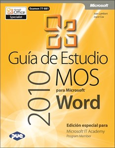Imagen de Guía de Estudio MOS para Microsoft Word 2010